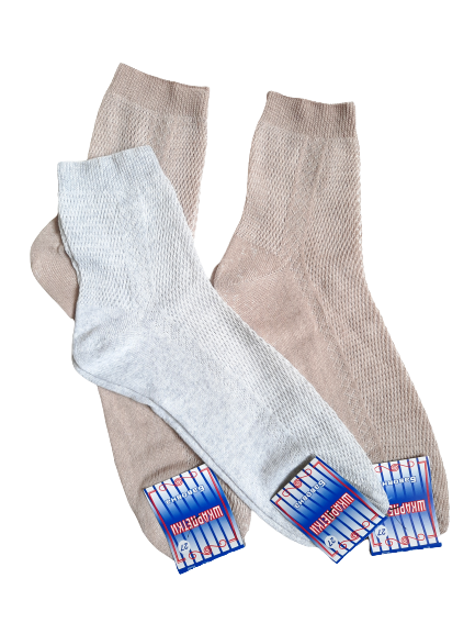 Шкарпетки чоловічі сіточка бавовна Україна р. 27 світло-сірий, бежевий. Від 10 пар по 5грн