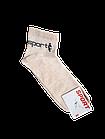 Носки мужские вставка сеточка р.29 светло-серый, бежевый хлопок стрейч Украина. От 10 пар по 6,50грн., фото 2