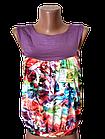 """Блуза футболка женская """"Каролина"""" р.42-44, 44-46 хлопок стрейч. Цвета разные. От 3шт по 49грн, фото 5"""