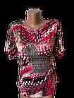 """Блуза футболка женская """"Эрика"""" р.50-52 хлопок стрейч. Цвета разные. От 3шт по 49грн, фото 3"""