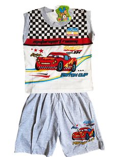 Костюмы детские футболка-безрукавка шорты на мальчиков 4-10 лет. От 5шт. по 32грн