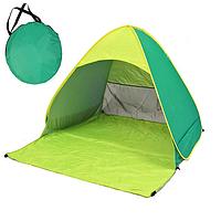 Пляжная палатка с дверью и защитой от ультрафиолета Stripe -  размер 150/165/110 - салатовая
