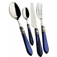 Набор столовых приборов Casa Bugatti  OXB2M-C3250,цвет синий на 6 персон