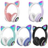 Бездротові блютуз навушники світяться з котячими вушками LED CAT EAR STN-26, фото 2