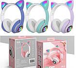 Бездротові блютуз навушники світяться з котячими вушками LED CAT EAR STN-26, фото 7