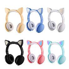 Беспроводные блютуз наушники светящиеся с кошачьими ушками LED CAT EAR STN-26