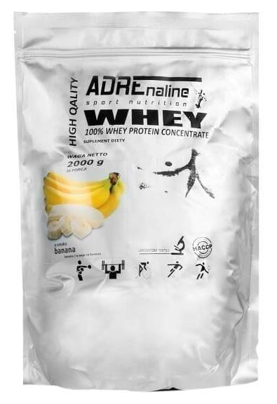 Протеин ADRENALINE WHEY 80% 2000 грамм Вкус: Банан
