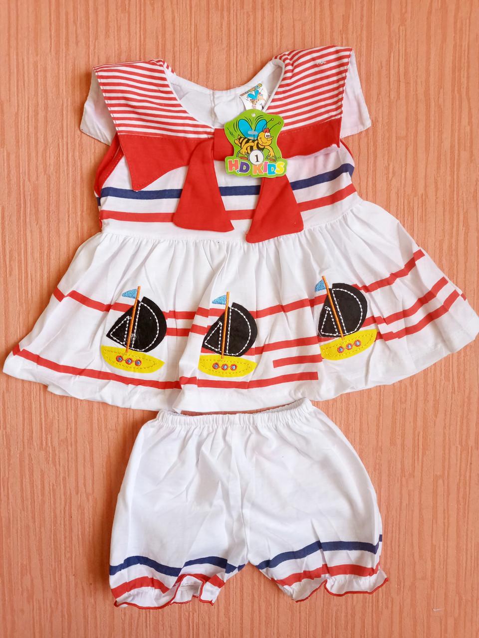 Дитячі костюми майка+шорти на дівчаток 1-5 роки. Уцінка! Від 5шт по 27грн