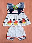 Дитячі костюми майка+шорти на дівчаток 1-5 роки. Уцінка! Від 5шт по 27грн, фото 2