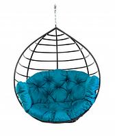 Кресло качеля кокон для дома и сада Kospa подвесное без подставки 250 кг Бирюзовый