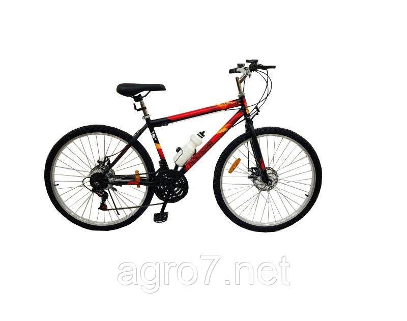 Велосипед SPARK RIDE ROMB D. 21 26-ST-18-ZV-D (Чорний з червоним)