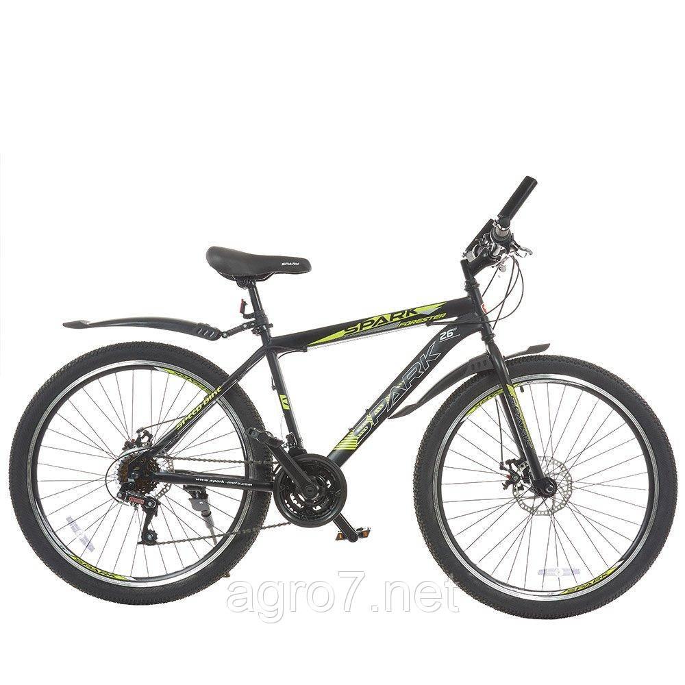 Велосипед SPARK FORESTER 26-ST-17-ZV-D (Чорний з жовтим)