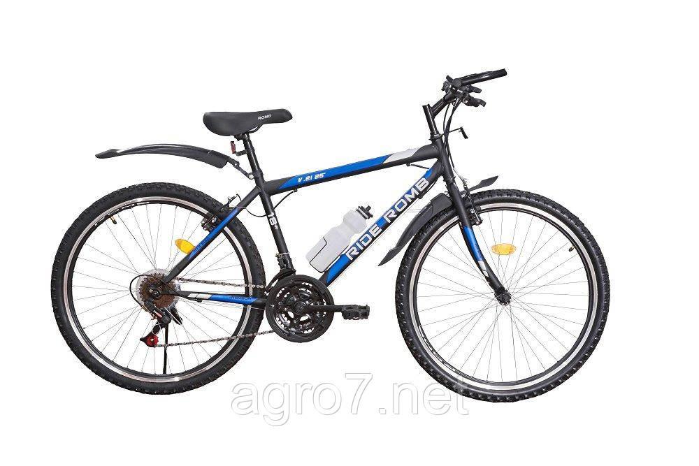Велосипед SPARK RIDE ROMB V. 21 26-ST-18-ZV-V (Чорний з синім)