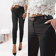 Стильні жіночі штани з двома скошеними кишенями з боків, 00870 (Чорний), Розмір 44 (M), фото 3