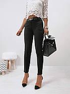 Стильні жіночі штани з двома скошеними кишенями з боків, 00870 (Чорний), Розмір 44 (M), фото 4
