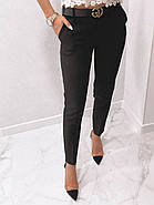 Стильні жіночі штани з двома скошеними кишенями з боків, 00870 (Чорний), Розмір 44 (M), фото 5