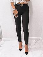 Стильні жіночі штани з двома скошеними кишенями з боків, 00870 (Чорний), Розмір 44 (M), фото 6