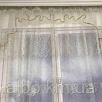 Готовый тюль из турецкого фатина ALBO 300x180 cm Золотистый (KU-140-3-4), фото 8