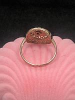 Кольцо 585 пробы из красного  золота Б/У с фианитами, вес 2.24 г, фото 3