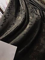 Плотная однотонная шторная ткань жаккард с легким напылением, высота 2.8 м на метраж, фото 5
