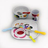 Детский набор посуды Casa Bugatti 07-BL01 из 7 столовых предметов       , фото 1