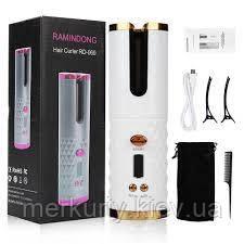 Беспроводной стайлер для завивки и укладки волос Ramindong Hair curler RD-060 | Автоматическая USB плойка