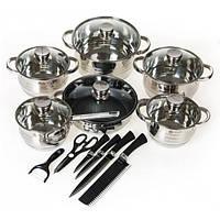 Набор посуды из нержавеющей стали Top Kitchen TK-00010, набор каструль, каструли, набор кастрюль из нержавейки