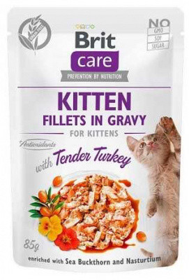 Brit Care (Брит Кеа) Fillets in Gravy Kitten Turkey Влажный корм для котят Филе индейки в соусе