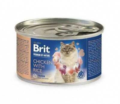 Brit Premium (Брит Премиум) by Nature Cat Консервы для кошек с курицей и рисом, фото 2