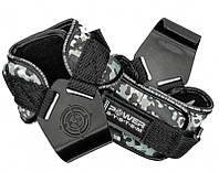 Крюки для тяги на запястья Power System Hooks Camo PS-3370 Black/Grey XL, фото 1