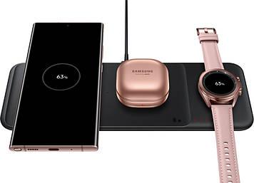 Беспроводное зарядное устройство Samsung Wireless charger 3 slots - Trio charger Black (EP-P6300TBRGRU)