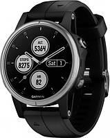 Спортивные часы Garmin Fenix 5S Silver Black Band