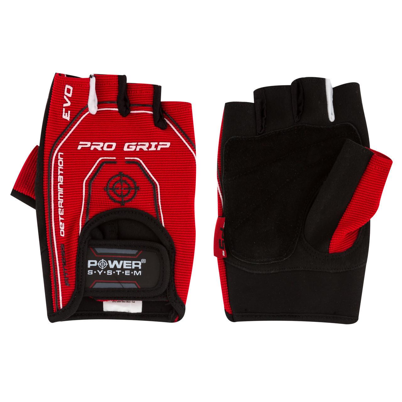 Перчатки для фитнеса и тяжелой атлетики Power System Pro Grip EVO PS-2250E Red XL