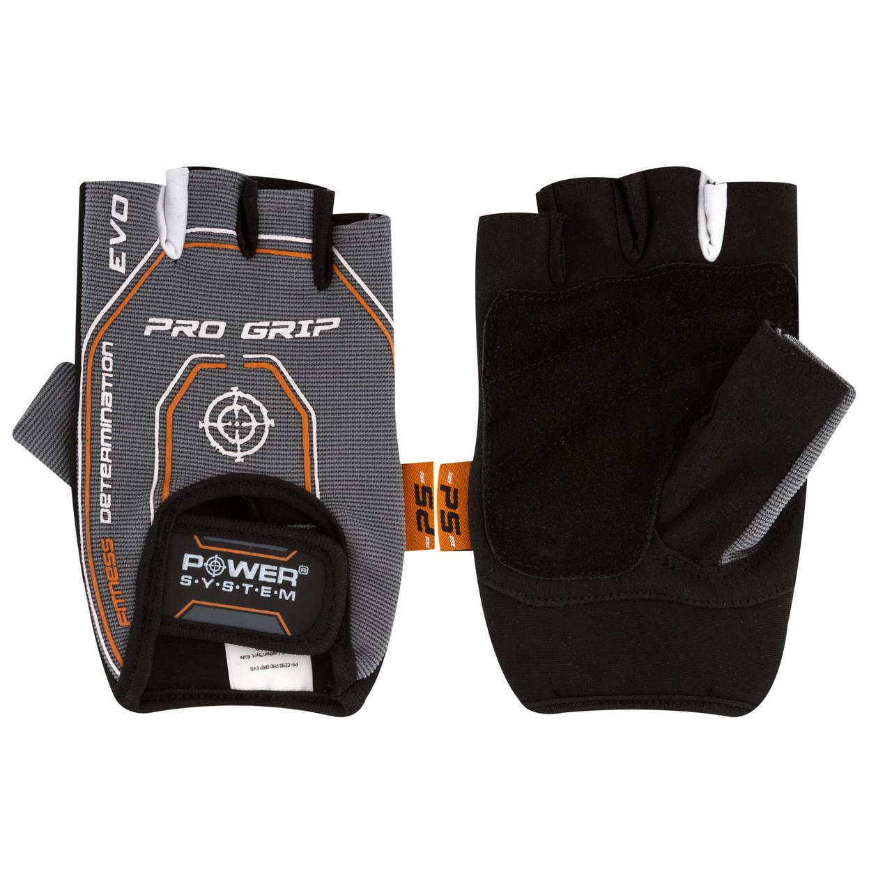 Перчатки для фитнеса и тяжелой атлетики Power System Pro Grip EVO PS-2250E Grey M
