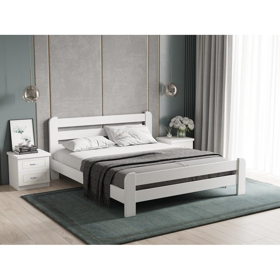 Кровать деревянная   Малага , ArtWood цвет белый