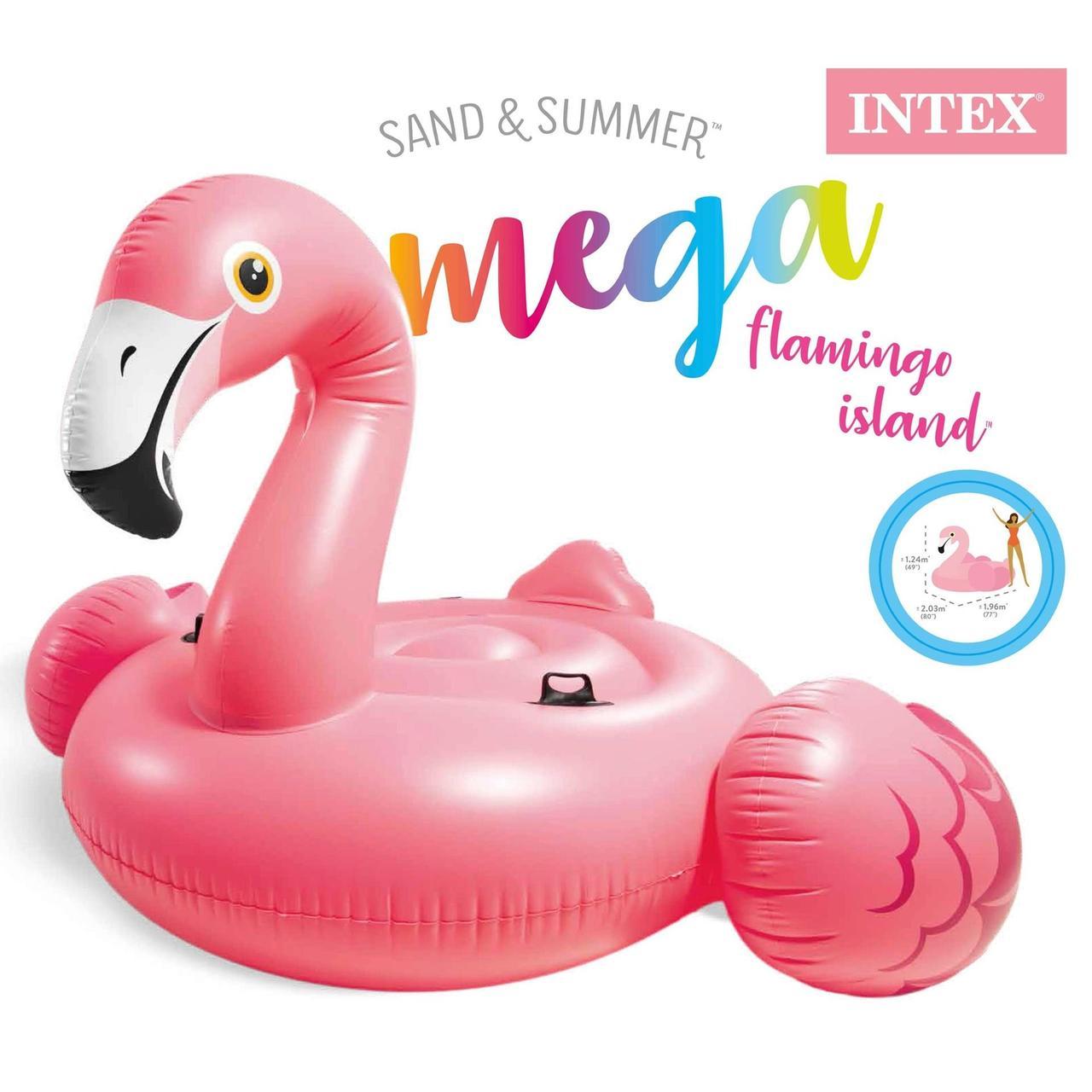 Дитячий надувний круг ФЛАМІНГО intex 99x89x71 см для плавання в басейні на море для пляжу 56251