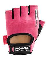 Перчатки для фитнеса и тяжелой атлетики Power System Pro Grip PS-2250 женские Pink XS, фото 1