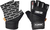 Перчатки для фитнеса и тяжелой атлетики Power System Power Grip PS-2800 Black XXL, фото 1