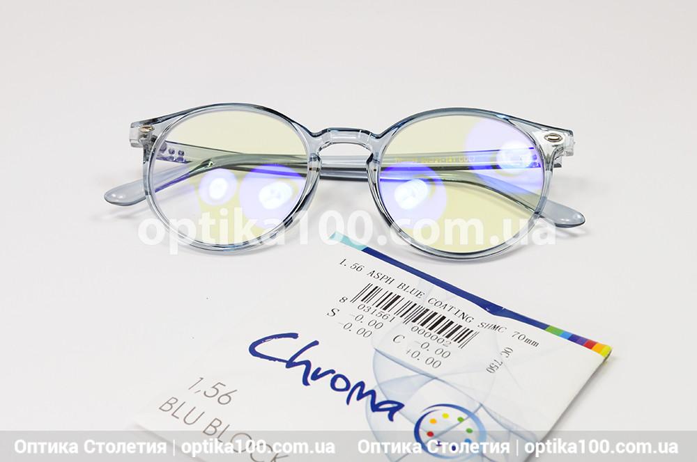 Круглые компьютерные очки с итальянскими линзами Divel Italia Chroma