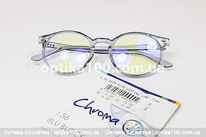 Круглые компьютерные очки с итальянскими линзами Divel Italia Chroma, фото 2