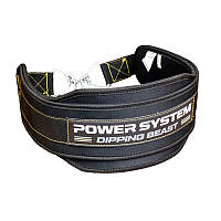 Пояс для обтяжень Power System Dipping Beast PS-3860 Black/Yellow, фото 1
