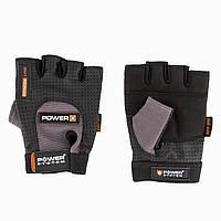 Рукавички для фітнесу і важкої атлетики Power System Power Plus PS-2500 Black/Grey M, фото 1