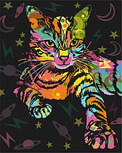 Картина по номерам Космический кот 40*50см Brushme  Радужные животные