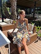 Літній жіночий сарафан з шовку армані на тонких бретелях, 00881 (Білий), Розмір 42 (S), фото 2