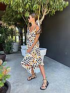 Літній жіночий сарафан з шовку армані на тонких бретелях, 00881 (Білий), Розмір 42 (S), фото 3