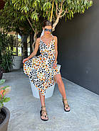 Літній жіночий сарафан з шовку армані на тонких бретелях, 00881 (Білий), Розмір 42 (S), фото 5