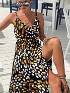 Стильний сарафан асиметричного крою на тонких бретелях з шовку армані, 00882 (Чорний), Розмір 44 (M), фото 5