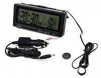 Авто часы и термометр. Термометр в автомобиль с выносным датчиком + часы! Измерение в салоне и за бортом. Т-08