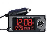 Термометр с часами, датой и подсветкой 2-х видов. Термометр в автомобиль с выносным датчиком+часы+дата. F17