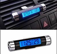 Часы с термометром в салон авто. Авто термометр с часами цифровой. Встроенная подсветка. CT-202